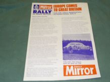 DAILY MIRROR RAC Rally 1971 info sheet.